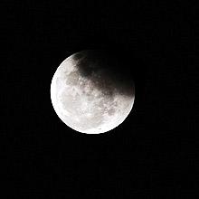 Foto do eclipse lunar