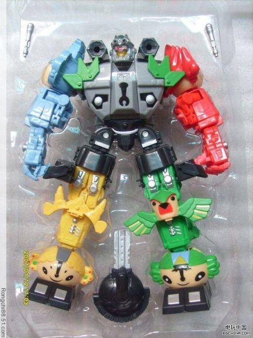 Robô de brinquedo dos mascotes das olimpiadas de Pequim 2008