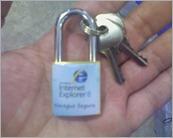 Cadeado do Internet Explorer 8