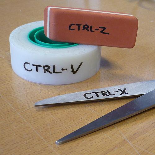 CTRL-Z, CTRL-V, CTRL-X