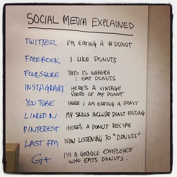 Explicando, com uma imagem, as diferenças entre as redes sociais